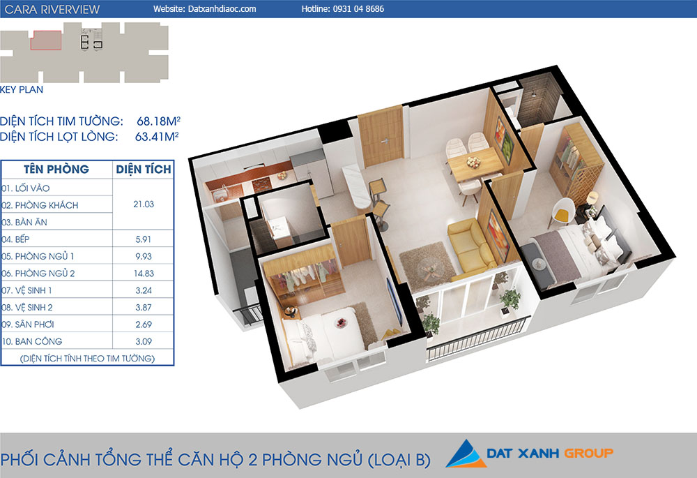 Can-ho-cara-riverview-2pn-68m20