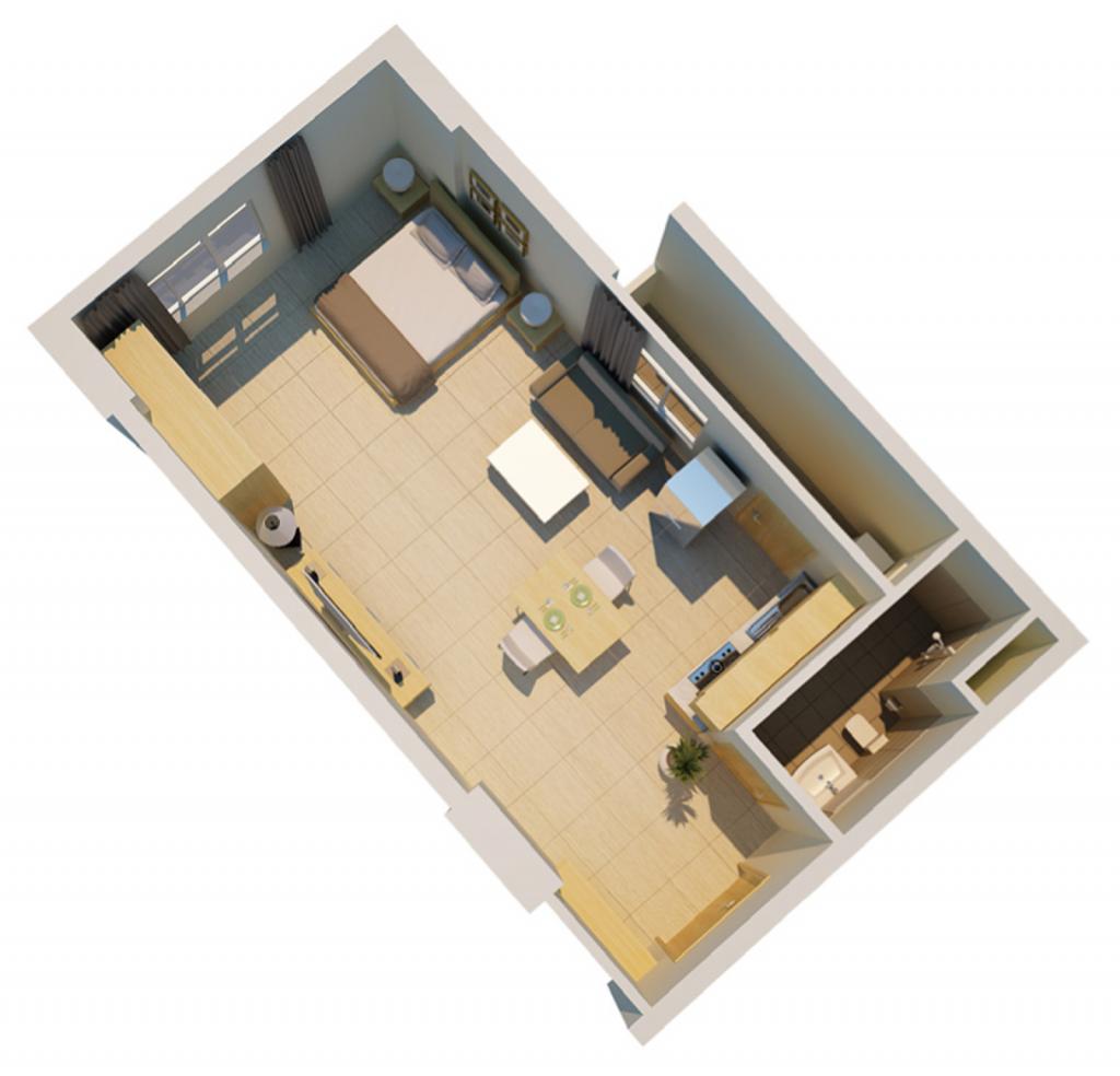 Căn hộ sunview town 45.5 m2 - 1PN