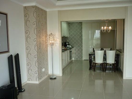 Phòng khách căn hộ mẫu Topaz City