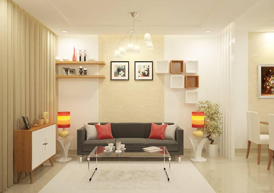 Phòng khách nhà mẫu Sunview Town