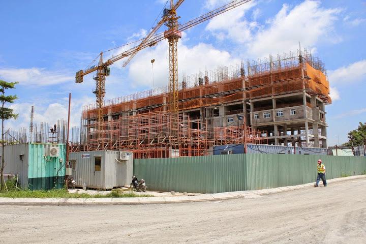 Tiến độ xây dựng Sunview Town-tháng 8/2014-nhìn từ xa