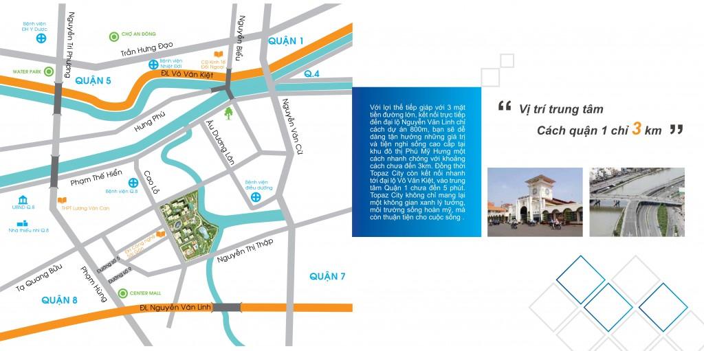 Topaz city trung tâm ba quận