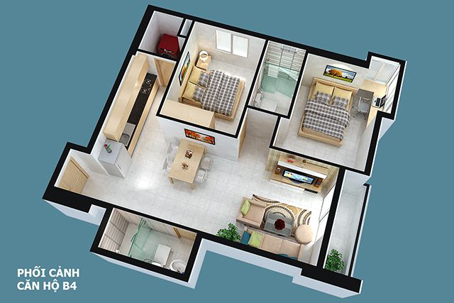 Thiết kế can ho Full House 75 m2