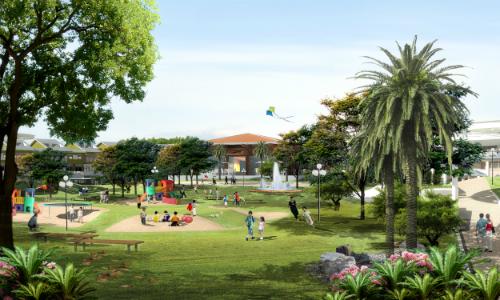 Khuôn viên cây xanh tại Gold Hill