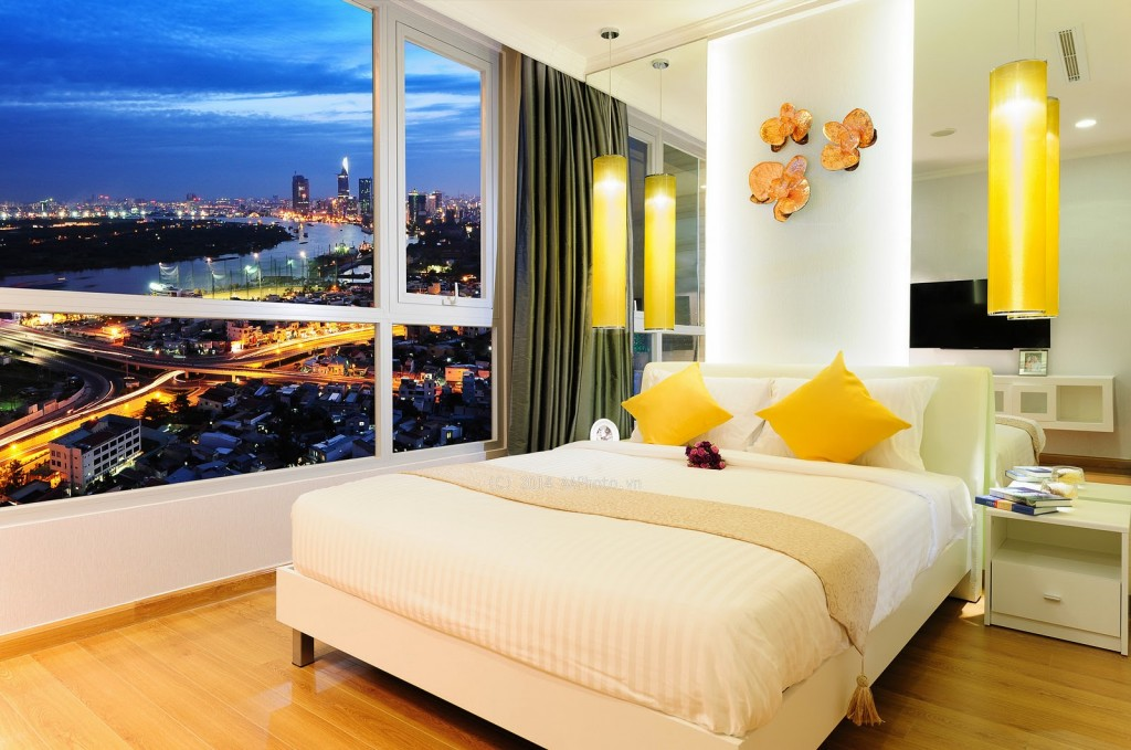 Căn hộ mẫu Saigonres Plaza - Phòng ngủ lớn