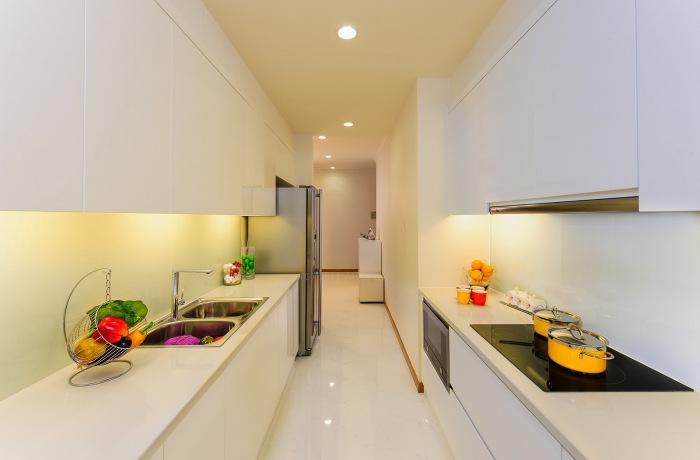 Căn hộ mẫu Saigonres Plaza - Phòng bếp