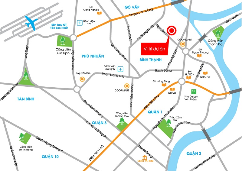 Vị trí căn hộ Saigonres Plaza