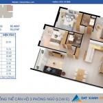 Thiết kế căn hộ Cara RiverView 3PN