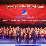 Đất Xanh nhận giải thưởng Sao Vàng Đất Việt 2015