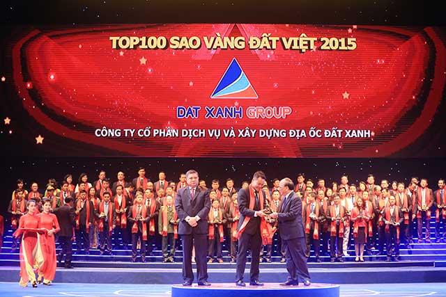 Đất Xanh Địa Ốc nhận giải thưởng Sao Vàng Đất Việt 2015
