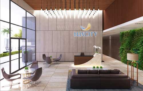 Hình phối cảnh sảnh căn hộ Luxcity quận 7