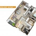 Thiết kế căn hộ Auris City loại-84.7m2