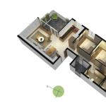 Thiết kế căn hộ Opal Riverside 84m2