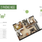 Thiết kế căn hộ Opal Riverside 73m2
