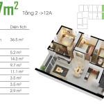 Thiết kế căn hộ Opal Riverside 86m2