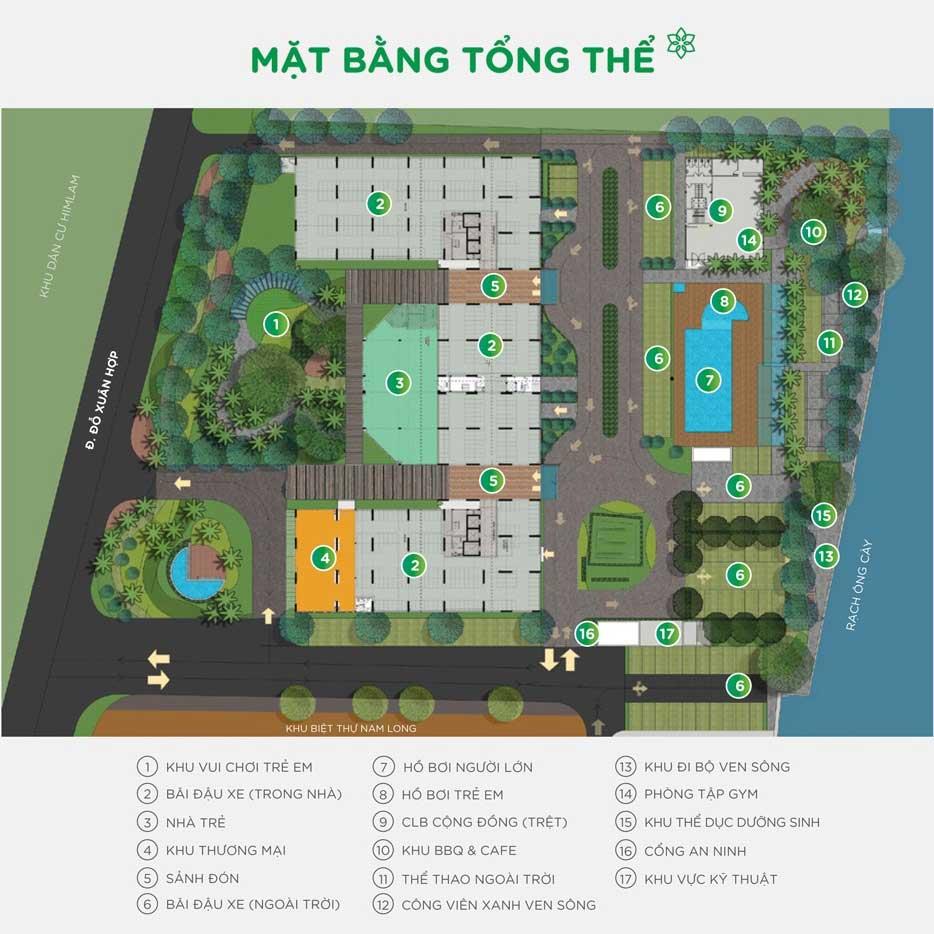 Mặt bằng tổng thể dự án căn hộ Flora Anh Đào