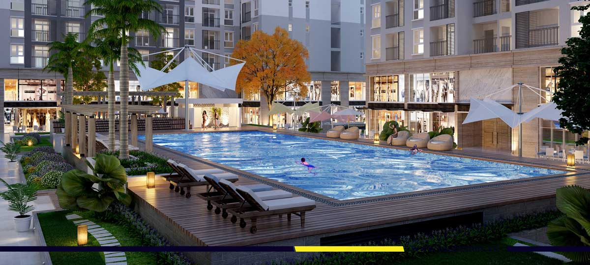 Prosper Plaza - Phối cảnh tiện ích hồ bơi