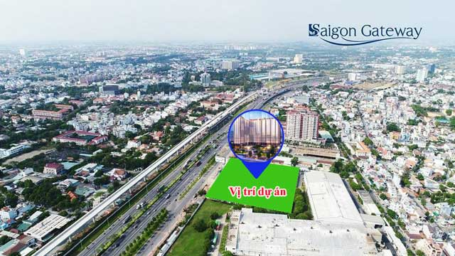 Vị trí thực tế Căn hộ Saigon gateway quận 9