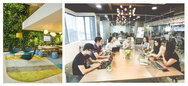Không gian làm việc và thư giãn tại Topaz ELite
