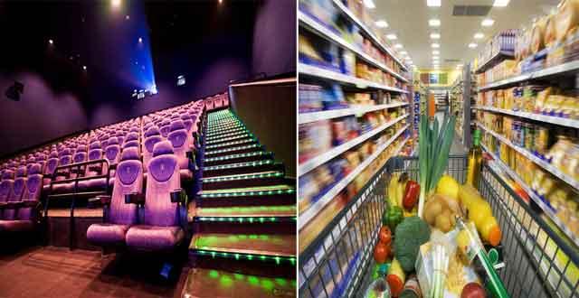 Khu rạp chiếu phim- khu mua sắm tại Topaz Elite