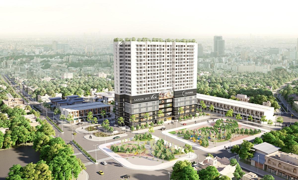 Phối cảnh Saigon Skyview Quận 8 -datxanh