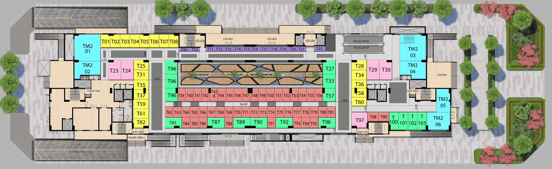 Saigon Metro Mall Mặt bằng tầng 1