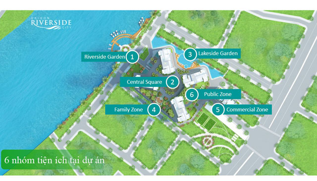 6 nhóm tiện ích bên trong dự án Saigon Riverside City
