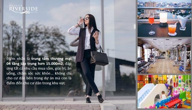 Nhiều tiện ích mua sắm tại Saigon Riverside City