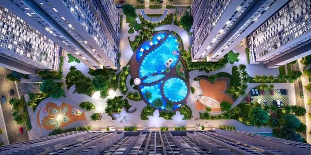 Quảng trường trung tâm chính của căn hộ Saigon Riverside City