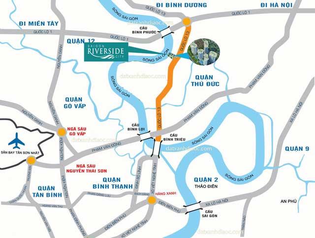 Vị trí căn hộ Saigon Riverside City