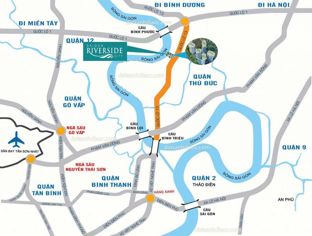 Vị trí dự án căn hộ Saigon Riverside City
