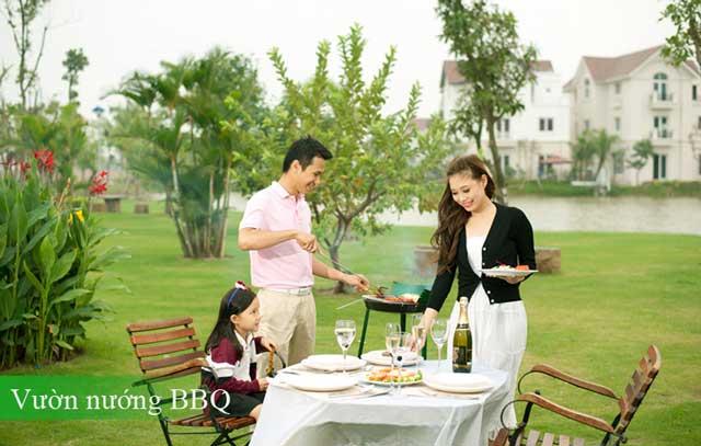 Vườn nướng BBQ tại dự án Saigon Riverside City