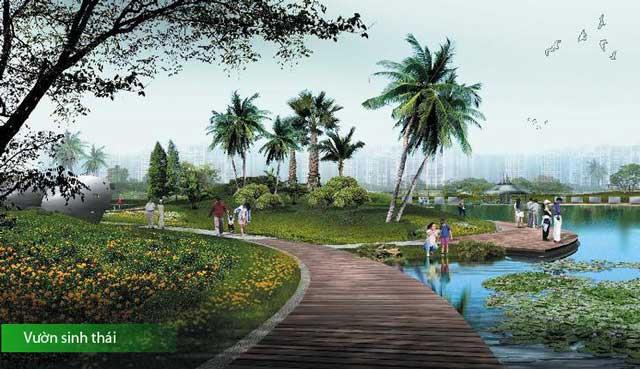 Vườn sinh thái tại saigon Riverside City