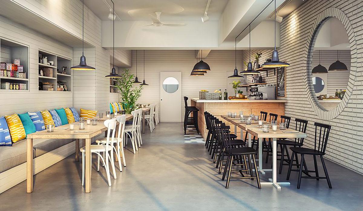Khu vực coffee Shop tại dự án High Intela