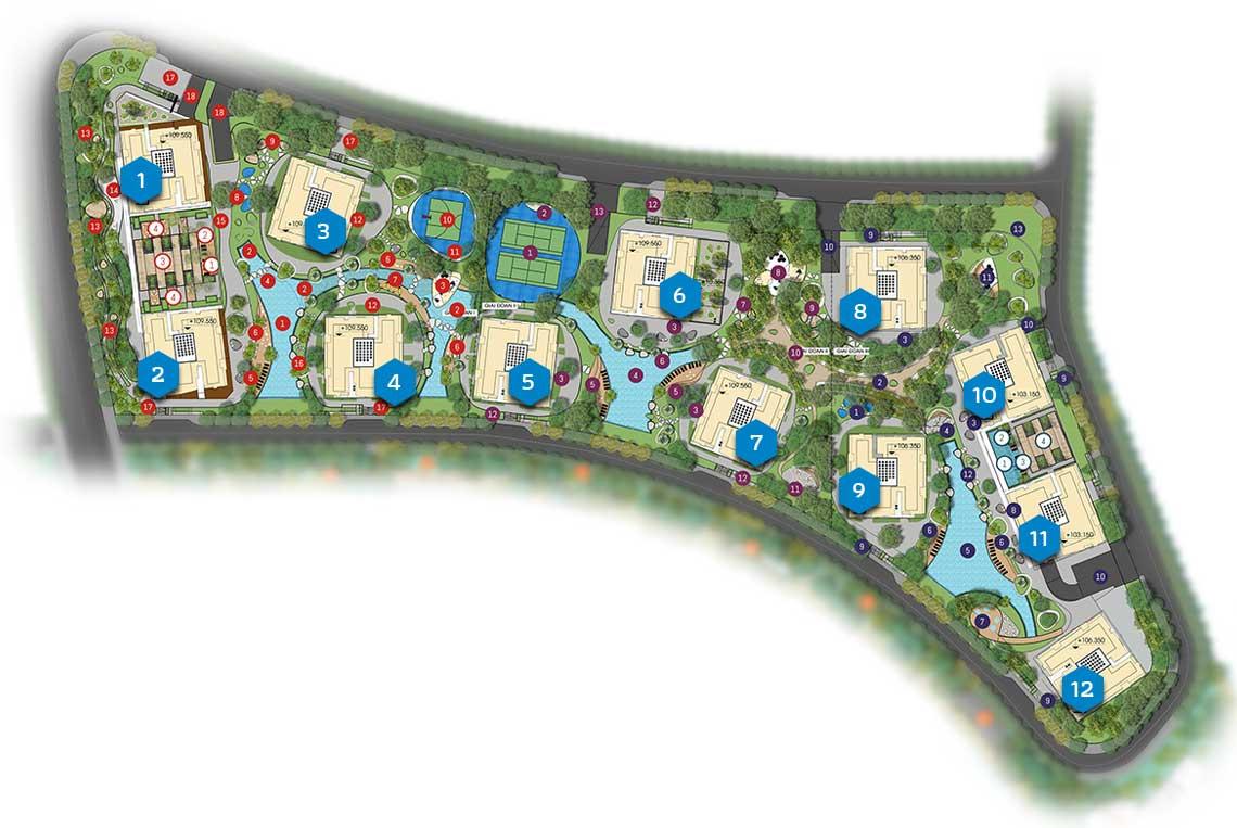 Căn hộ Gem Riverside - Mặt bằng tổng thể dự án Gem Riverside