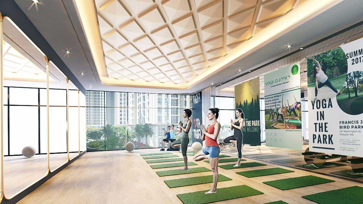 căn hộ Gem Riverside - Phòng tập Yoga cao cấp