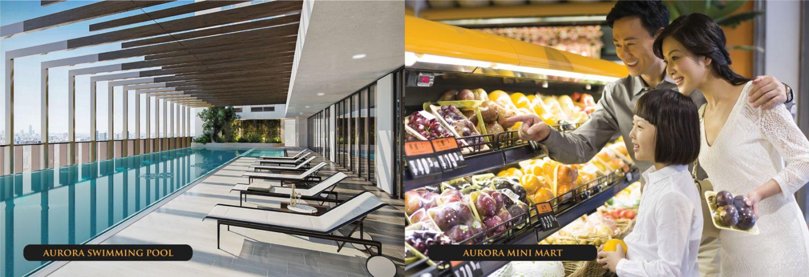 Dự án Aurora Riverside - Khu siêu thị mua sắm mini