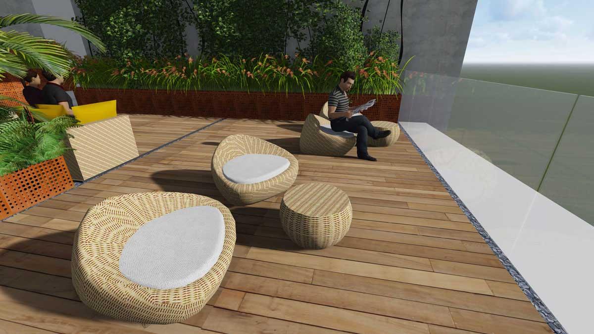 Gem Riverside Quận 2 - Khu thư giãn trên tầng Sky garden
