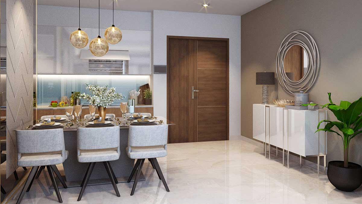 Nhà mẫu căn hộ Gem Riverside - Phòng ăn 1