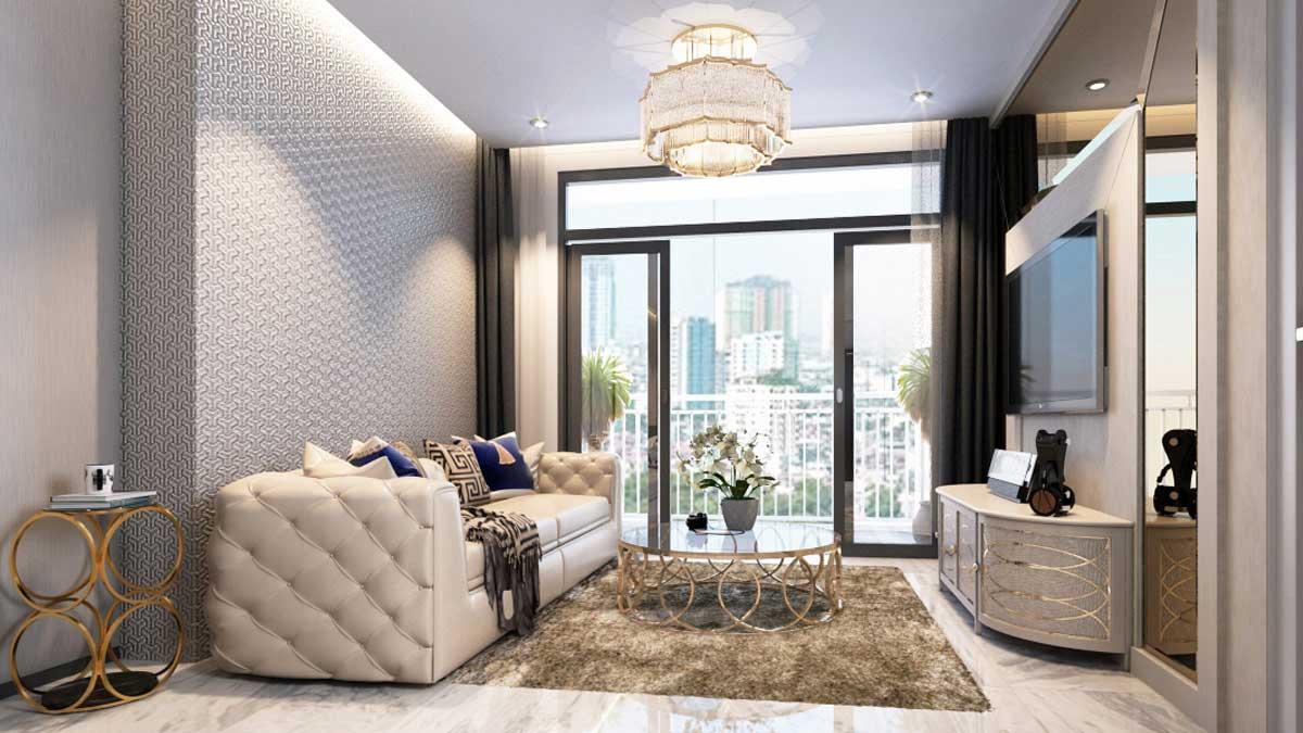 Nhà mẫu căn hộ Gem Riverside - Phòng khách 2