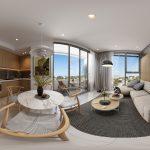 Ảnh 360 độ nhà mẫu dự án Aurora Residence Quận 8 -phòng khách 2