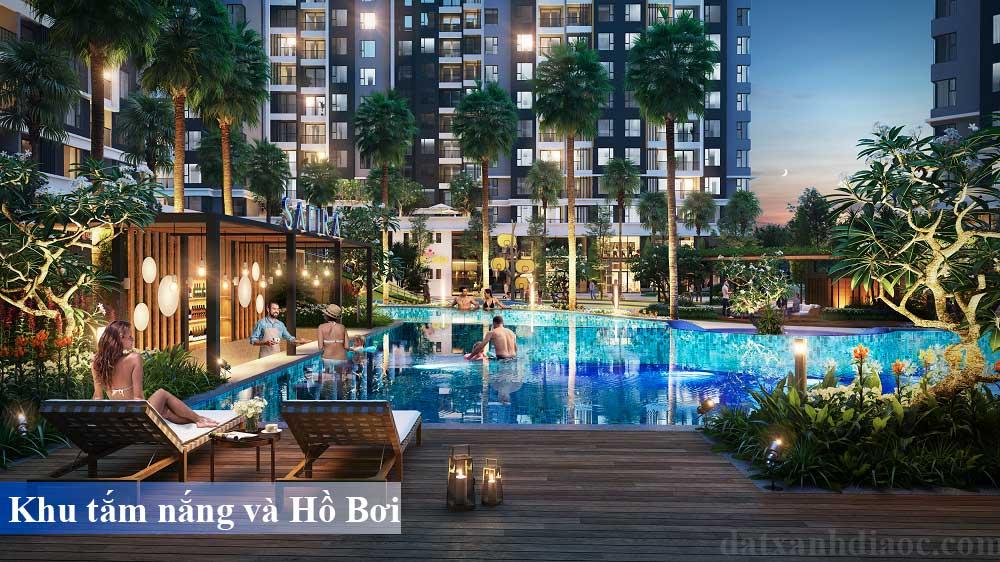 Tiện ích căn hộ Safira khang điền - Hồ bơi và tắm nắng