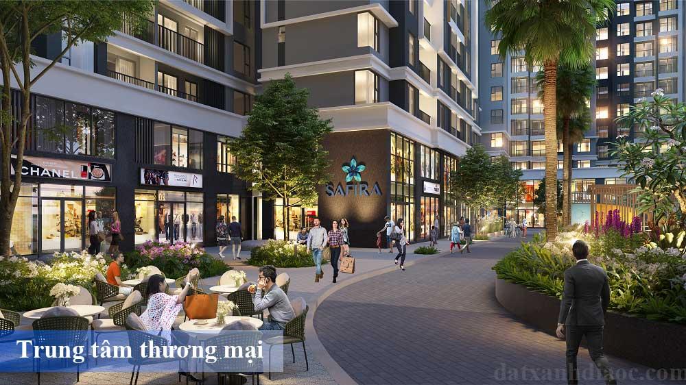 Tiện ích căn hộ Safira khang điền - Trung tâm thương mại