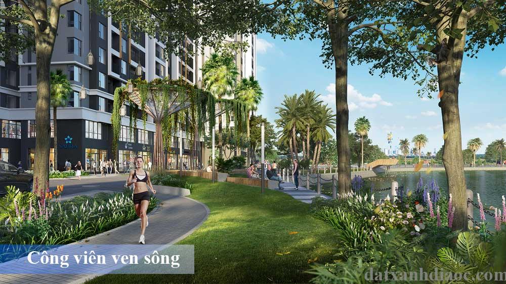 Tiện ích căn hộ Safira khang điền - Công viên ven sông