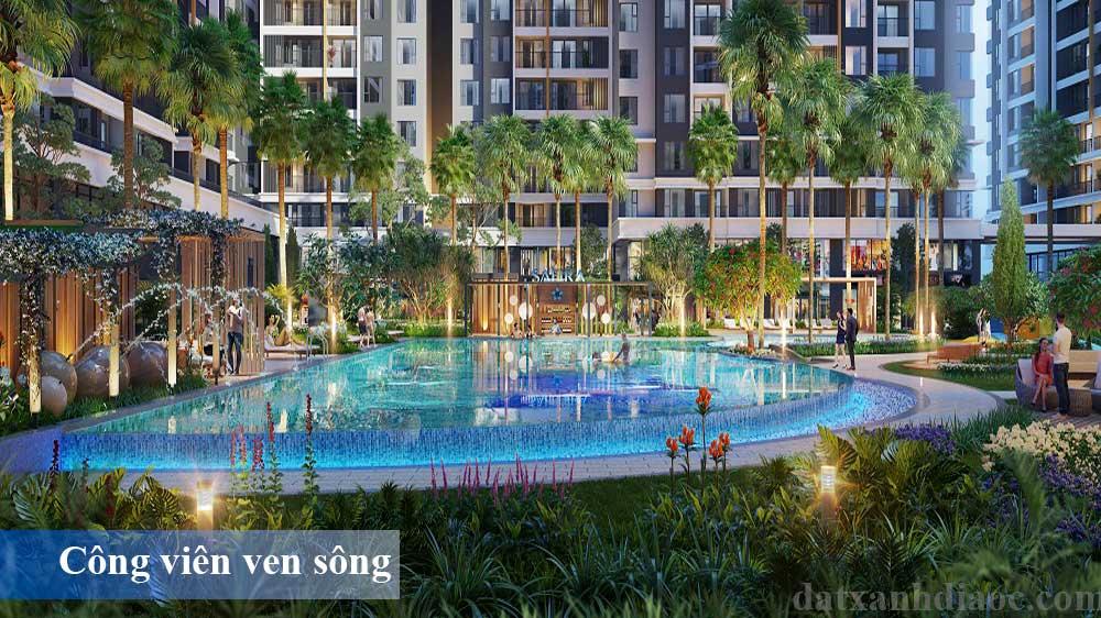 Tiện ích căn hộ Safira khang điền - Hồ bơi tràn bờ