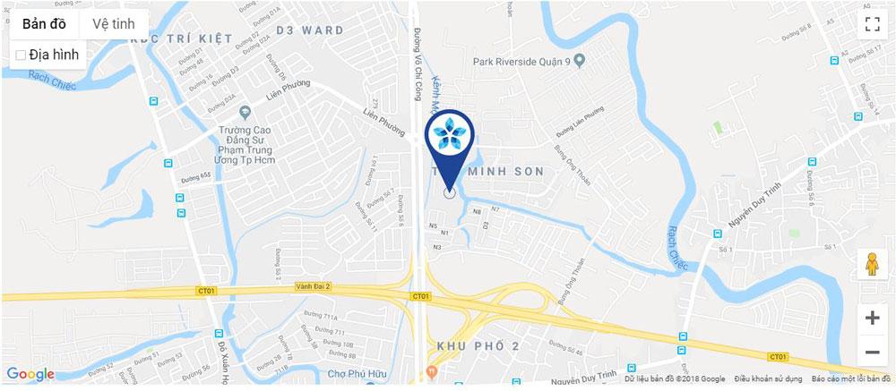 Vị trí thực tế dự án căn hộ Safira khang điền quận 9