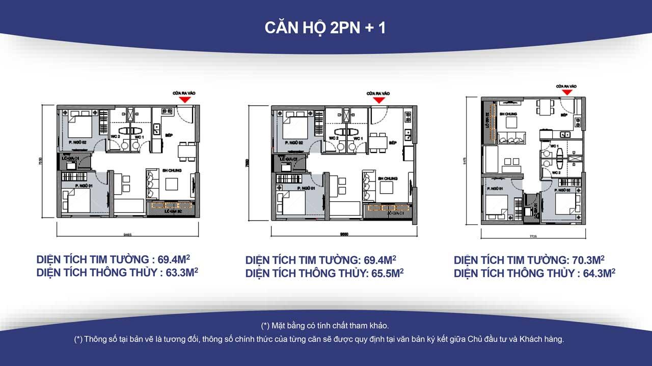 Thiết kế căn hộ vincity quận 9 -loại 2 phòng ngủ 2
