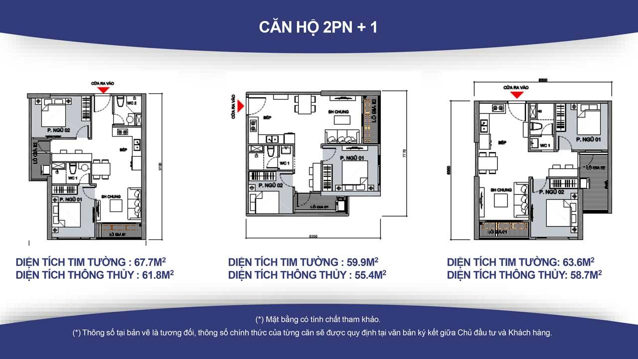 Thiết kế căn hộ vincity quận 9 -loại 2 phòng ngủ