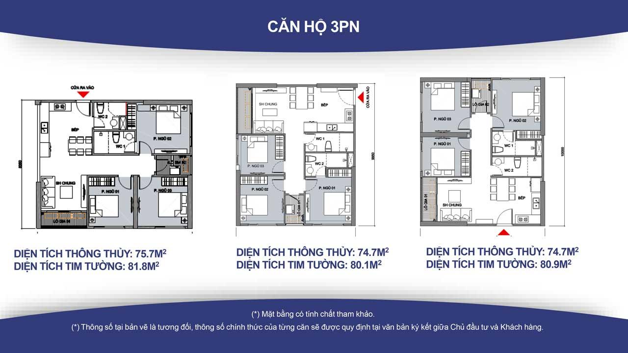 Thiết kế căn hộ vincity quận 9 -loại 3 phòng ngủ