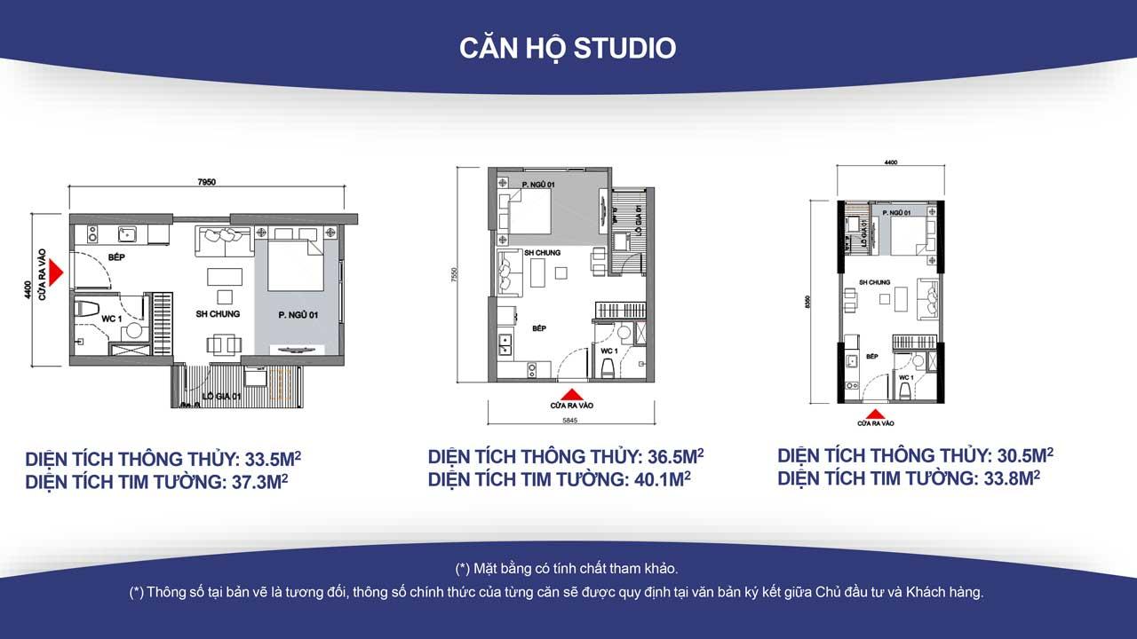 Thiết kế căn hộ vincity quận 9 -loại Studio